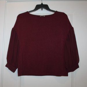 Zara Collection Sweater with Chiffon sleeves